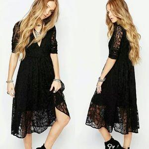 Free People Mountain Laurel Lace Midi Dress, 2